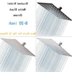 Square Solid Stainless Steel Shower Head Rainfall Overhead T
