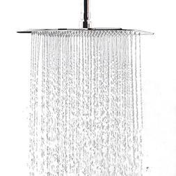 WYJP 12 Inch Large Square Rain Showerhead Stainless Steel Hi