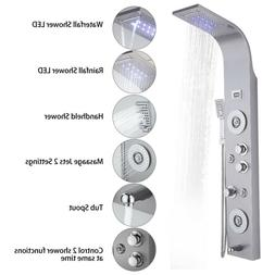 Stainless Steel LED Oil Rubbed Bronze Shower Panel Column Ma