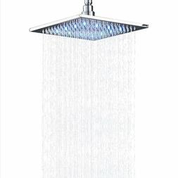 Stainless Steel Top Shower Head LED 10-inch Rainfall Wall/Ce