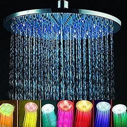 TOPINCN Color Changing Shower Head, 8 Inches Bathroom LED Li