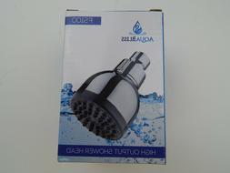 TurboSpa 3 Inch High Output Pressure Shower Head w/Flow Rest