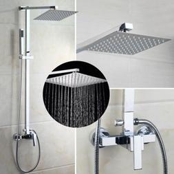 US Wall Mounted Rainfall Shower Faucet Set Heads&Hand Bathtu