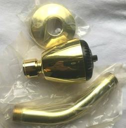 VTG Kohler Polished Brass Shower Head & Arm 3 GPM - NOS