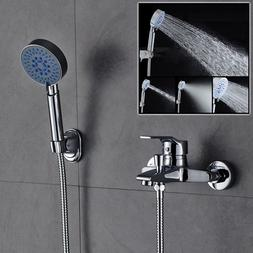 Wall Mounted Bathtub Faucets & Showerheads Brass Single Hand